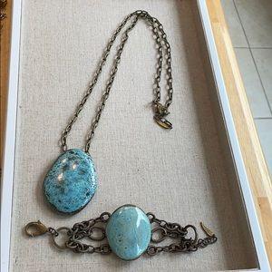 Dandy necklace bracelet set